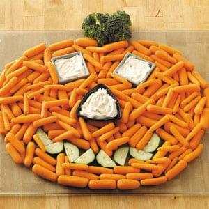 Bandeja de verdura para Halloween